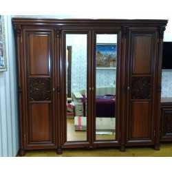 Шкаф 4-х дверный АМАНДА Скай