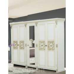 Шкаф 5-х дверный АМАНДА Скай