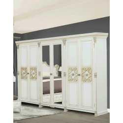 Шкаф 6-х дверный АМАНДА Скай