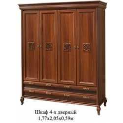 Шкаф 4х дверный ЛАУРА НОВА Скай