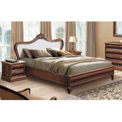 """Кровать 1,60 """"С-2 new"""" (с мягким изголовьем) Скай"""